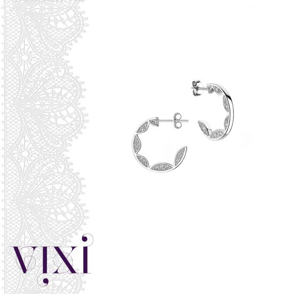 Vixi Jewellery | Sterling Silver Designer Jewellery | Lace earrings artwork