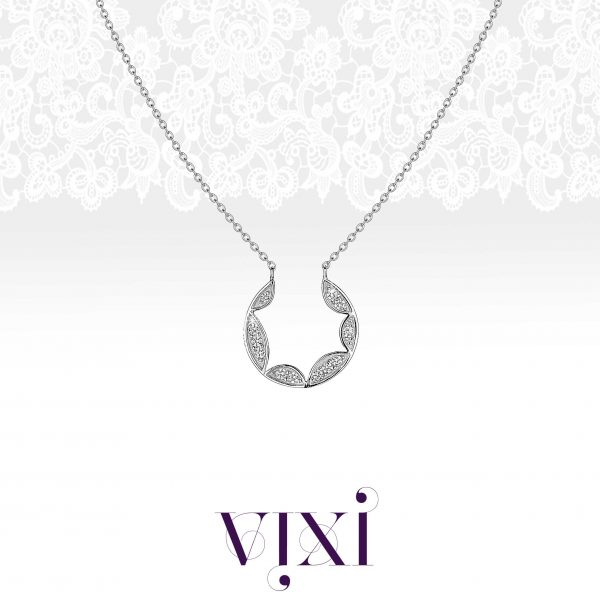 Vixi Jewellery | Sterling Silver Designer Jewellery | Lace pendant artwork