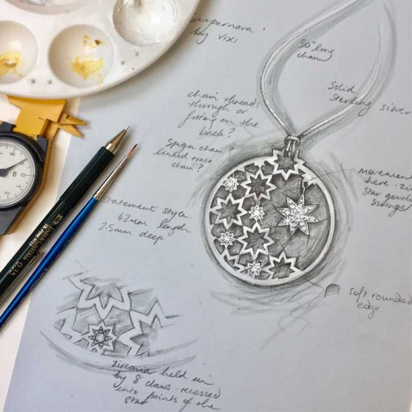 Vixi Jewellery | Sterling Silver Designer Jewellery | Nova artwork