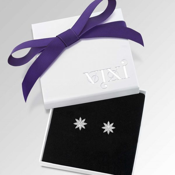 Vixi Jewellery | Sterling Silver Designer Jewellery | Nova star studs in box