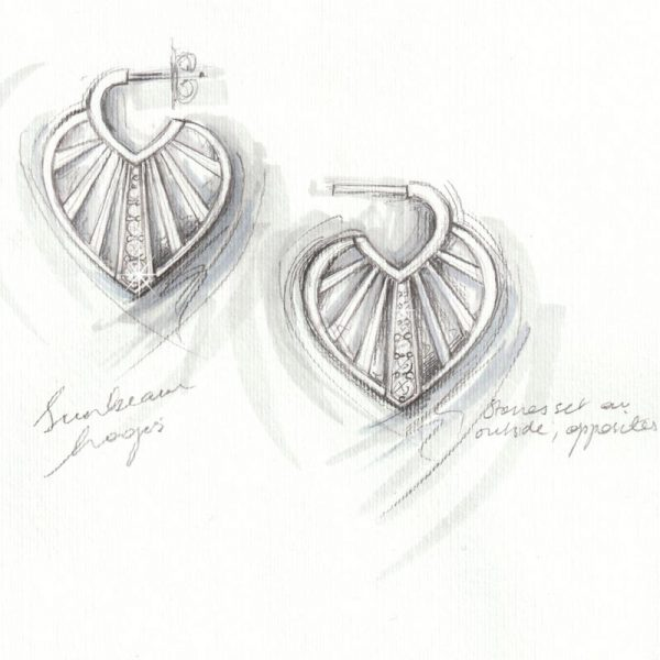 Vixi Jewellery | Jewellery Design | Sunbeam Earring Design