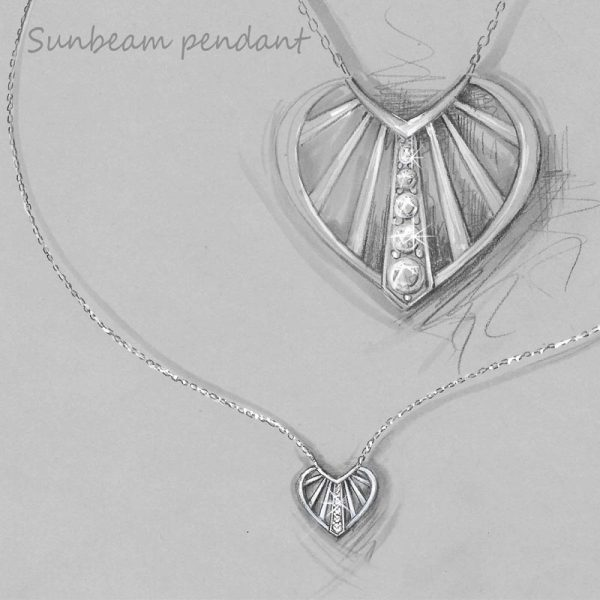 Vixi Jewellery | Jewellery Design | Sunbeam Necklace Design