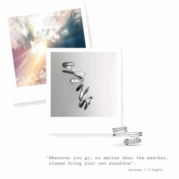 Vixi Jewellery | Sterling Silver Designer Jewellery | Sunbeam ring and polaroid