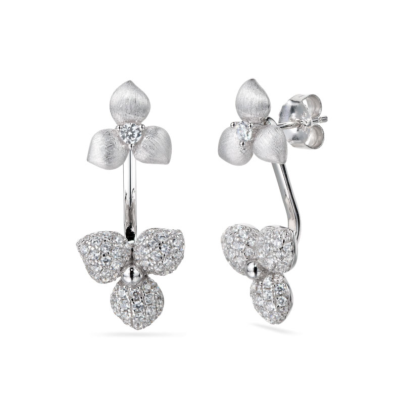 Vixi Jewellery | Sterling Silver Designer Jewellery | Desert Flower earrings
