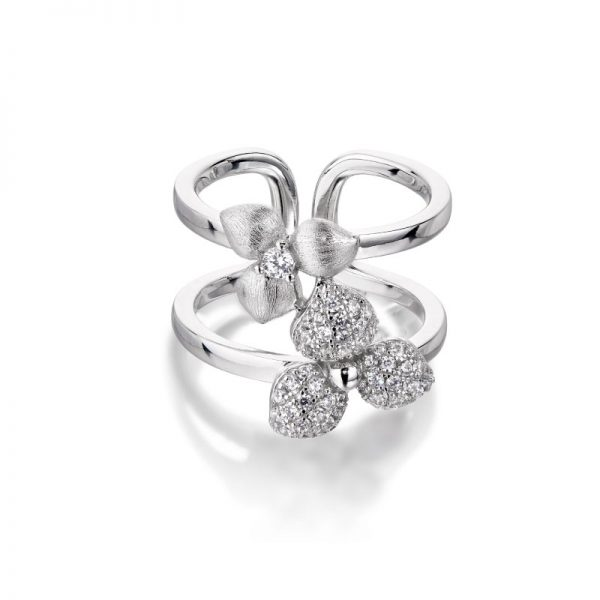 Vixi Jewellery | Sterling Silver Designer Jewellery | Desert Flower ring