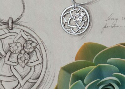 Vixi Jewellery | Sterling Silver Designer Jewellery | Desert Flower Artwork