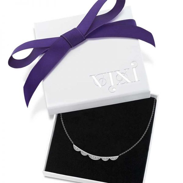 Vixi Jewellery | Sterling Silver Designer Jewellery | Lace necklace in box