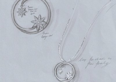 Vixi Jewellery | Designer Jewellery | Nova necklace sketch