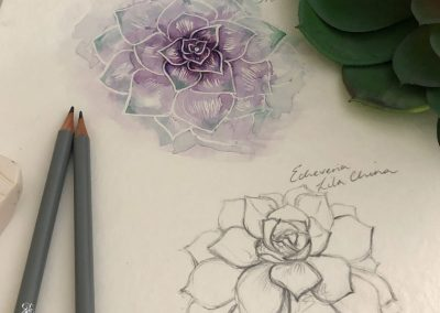 Vixi Jewellery | Sterling Silver Designer Jewellery | Succulent artwork