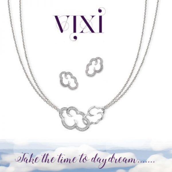 Vixi Jewellery | Designer Jewellery | Daydream necklace and Vixi logo