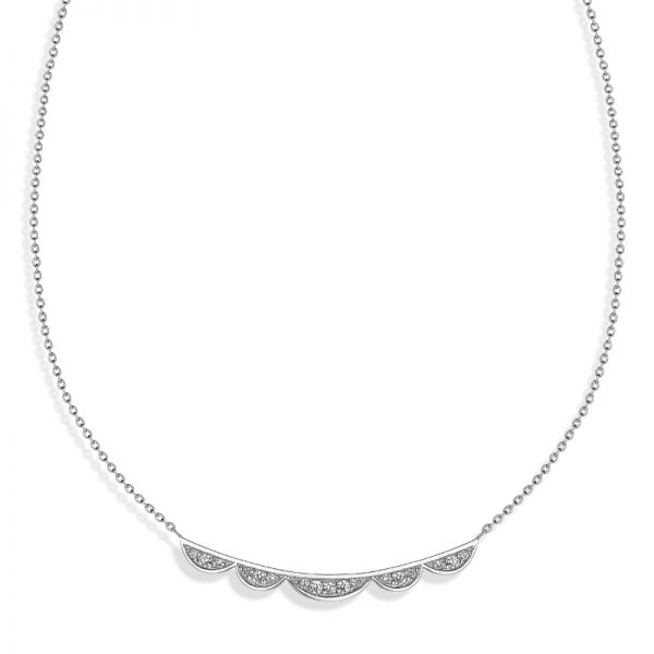 Vixi Jewellery | Sterling Silver Designer Jewellery | Lace bar necklace