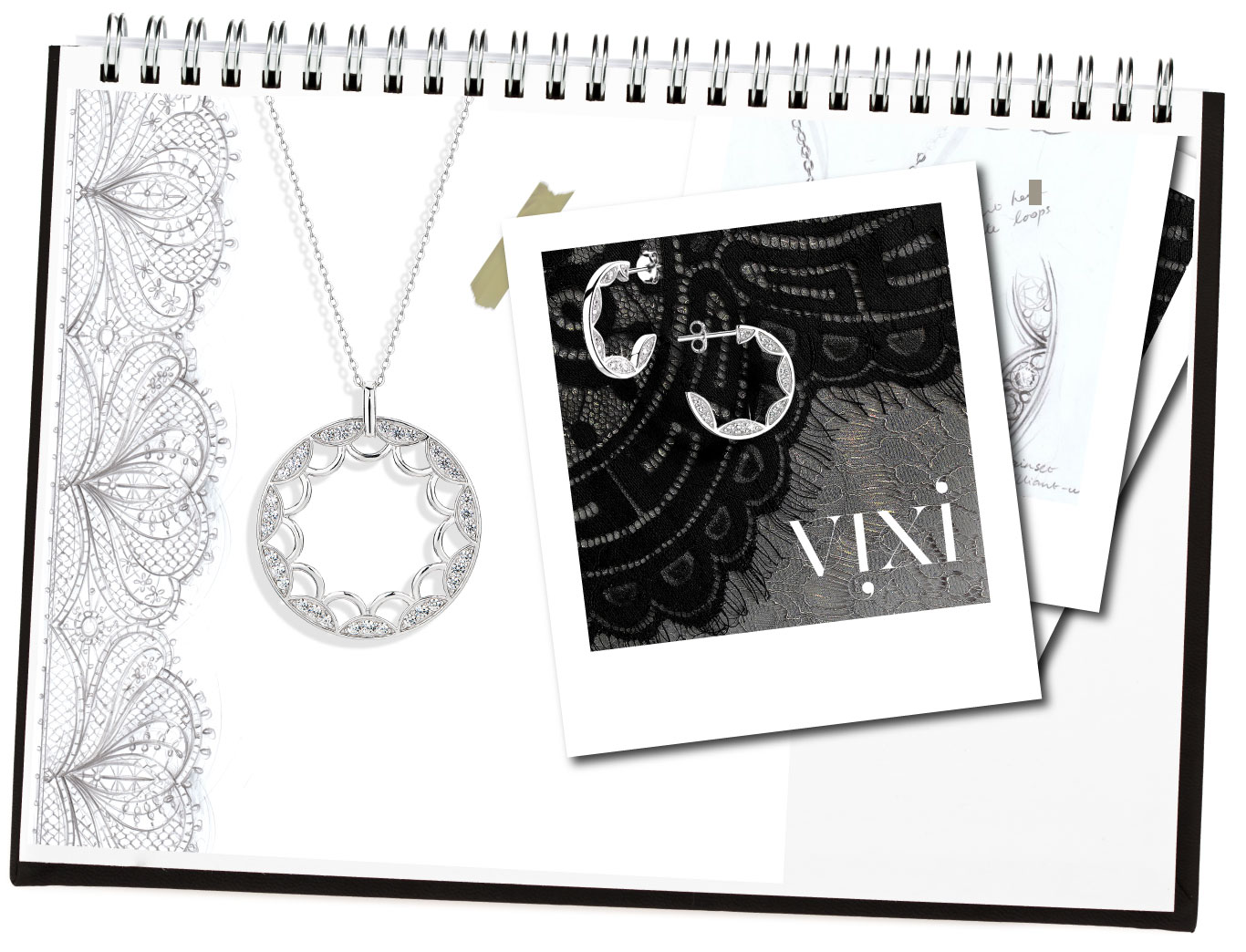 Vixi Jewellery | Sterling Silver Designer Jewellery | Lace Page