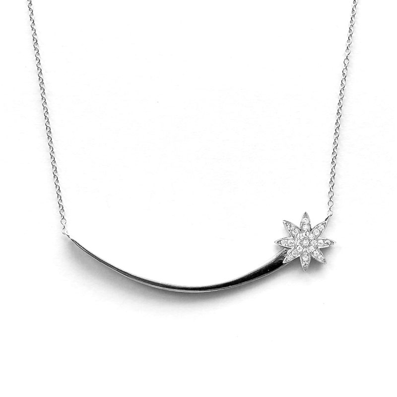 Vixi Jewellery | Sterling Silver Designer Jewellery | Nova shooting star pendant