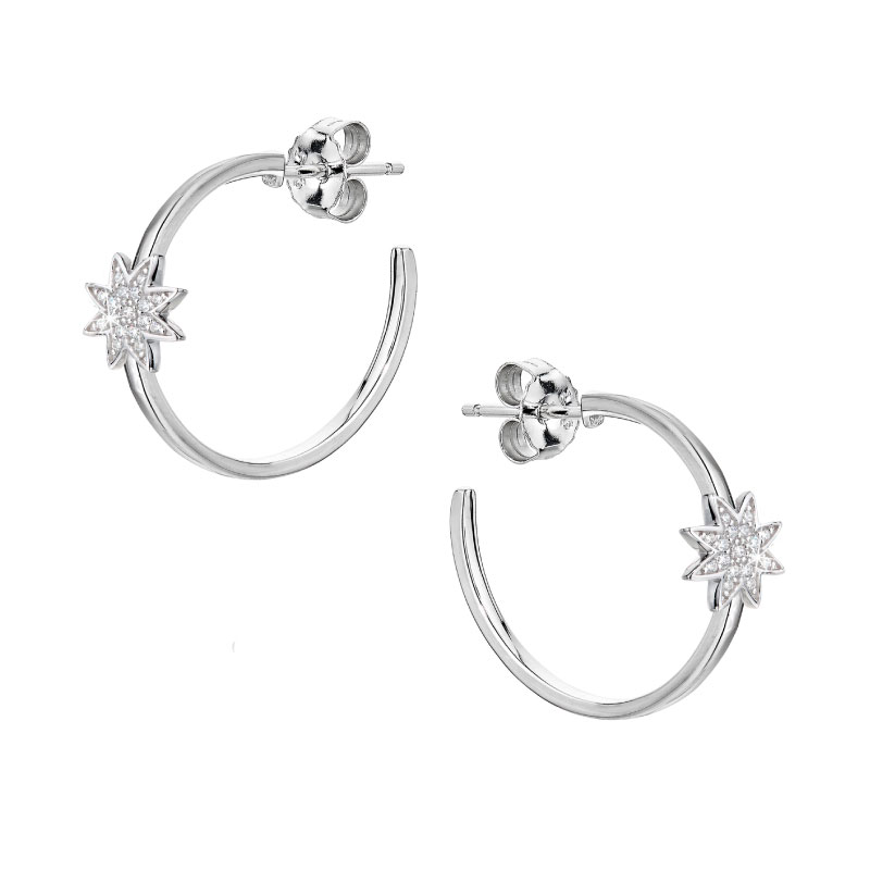 Vixi Jewellery | Sterling Silver Designer Jewellery | Nova hoop earrings
