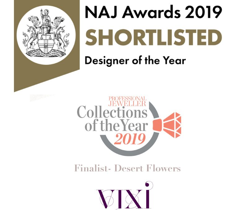 I'm thrilled to have be shortlisted for not only one but TWO National jewellery awards