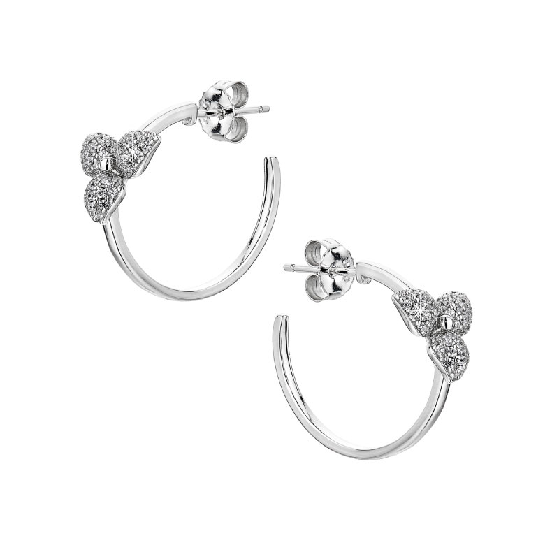 Vixi Jewellery | Sterling Silver Designer Jewellery | Desert Flower hoop earrings