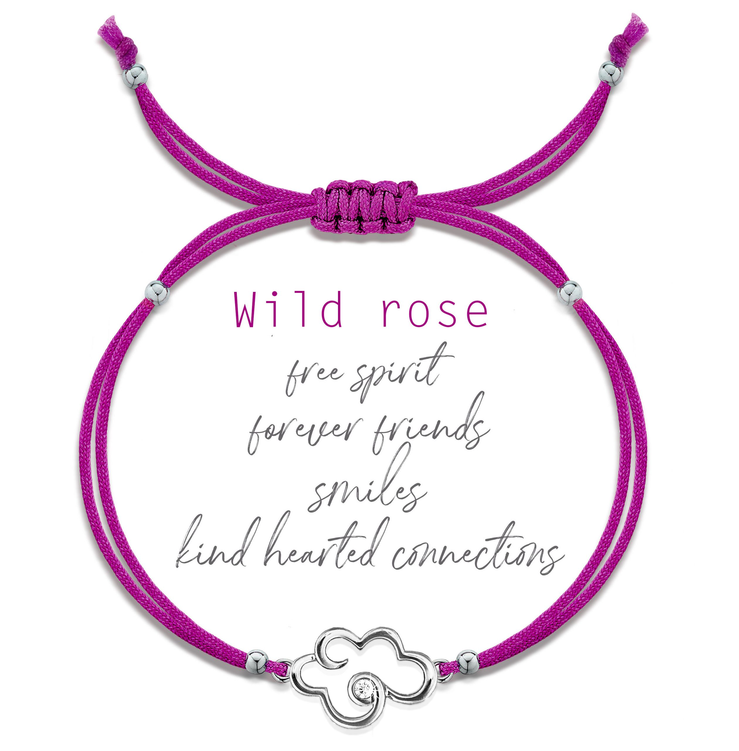 Small cloud bracelet – raspberry