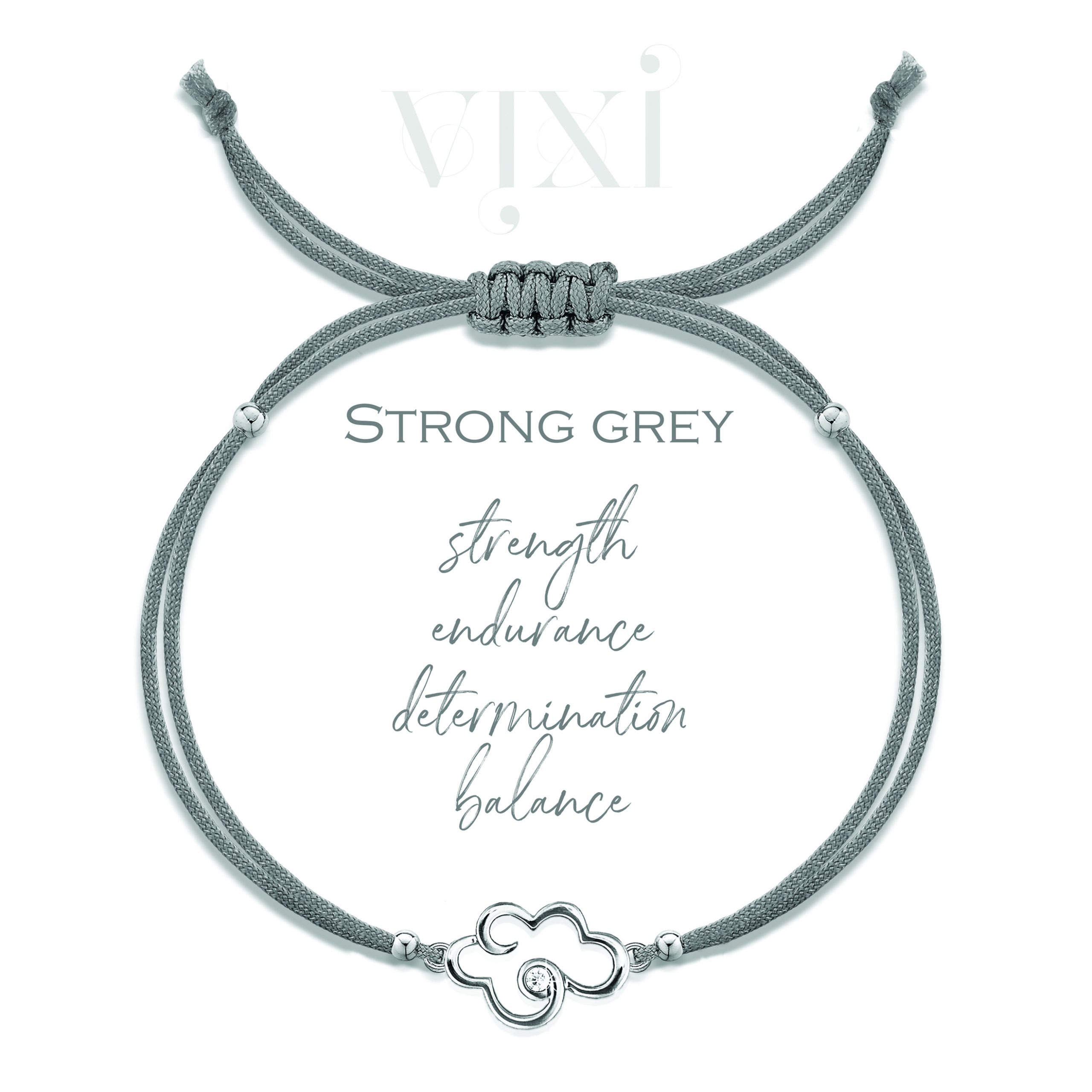 Small cloud bracelet – grey